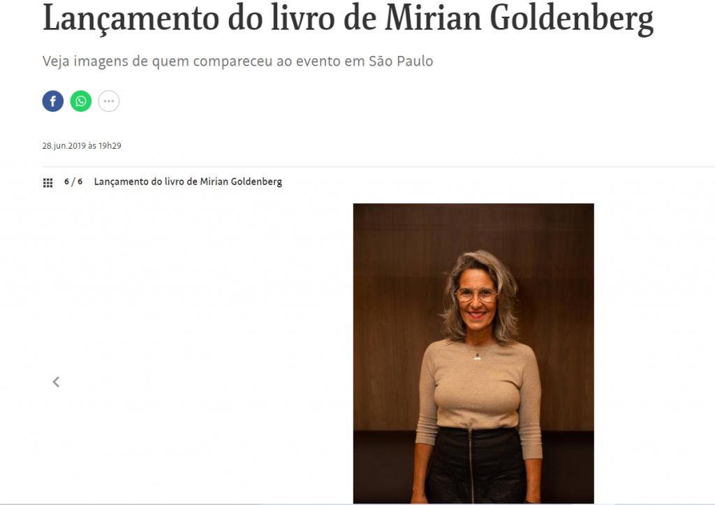 Lançamento livro mirian goldenberg